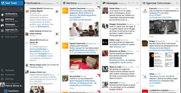 Tweetdeck herramienta gratis community manager